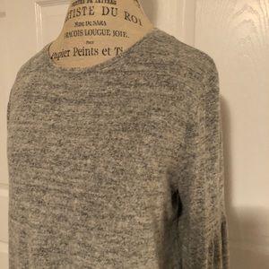 Apt 9 brand light gray bell sleeved blouse. NWT.